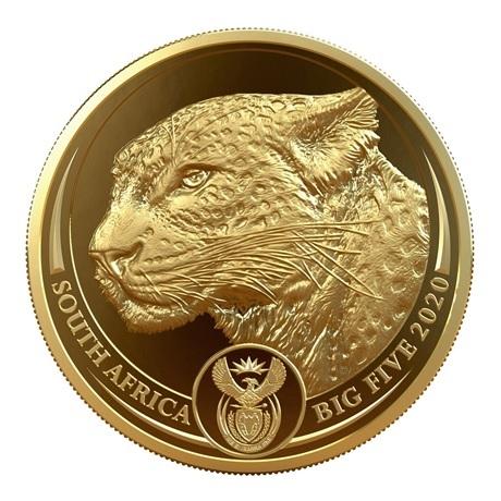 (W002.50.R.2020.1.oz.Au.2) 50 Rand Afrique du Sud 2020 1 once or BE - Léopard Avers
