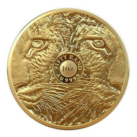 (W002.50.R.2020.1.oz.Au.2) 50 Rand Afrique du Sud 2020 1 once or BE - Léopard Revers