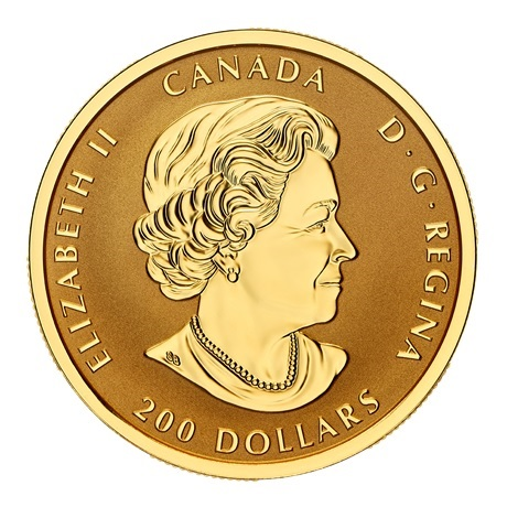 (W037.200.D.2021.179025) 200 Dollars Paix 2021 - Or BE Avers