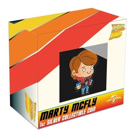 (W160.200.2020.21K51AAA) 2 Dollars Niue 2020 1 once Ag BE - Chibi Marty McFly (packaging)