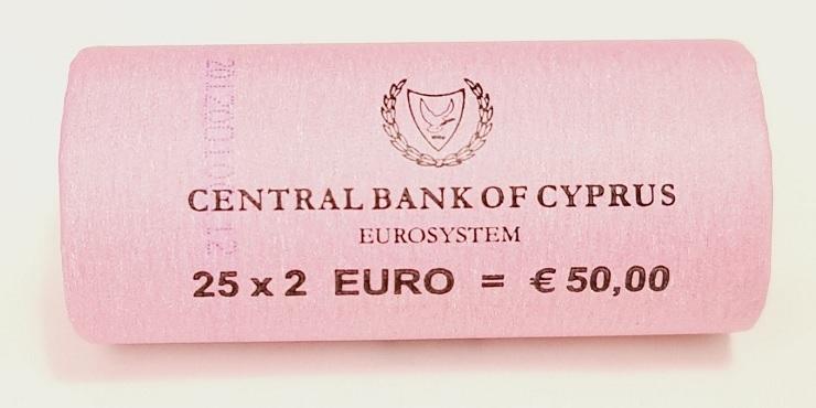 (EUR04.200.2012.roll.COM1.spl.000000001) 2 euro roll Cyprus 2012 - 10 years of euro cash (zoom)