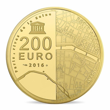 (EUR07.ComBU&BE.2016.10041299740000) 200 euro France 2016 or BE - Musée Orsay et Petit Palais Revers