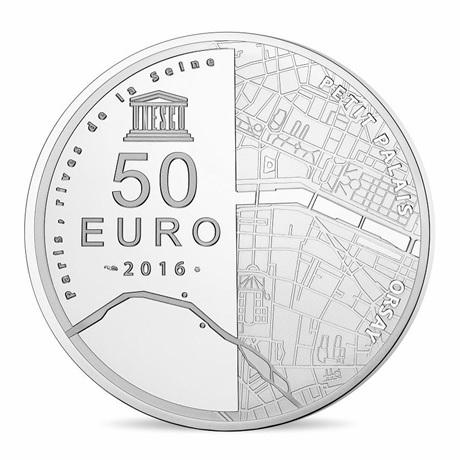 (EUR07.ComBU&BE.2016.10041299770000) 50 euro France 2016 argent BE - Musée Orsay et Petit Palais Revers