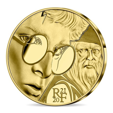 (EUR07.ComBU&BE.2021.10041344300000) 50 euro France 2021 or BE - Harry Potter Avers