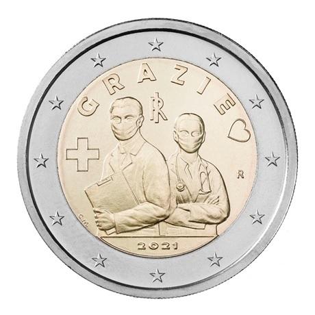(EUR10.200.2021.COM2) 2 euro commémorative Italie 2021 - Merci