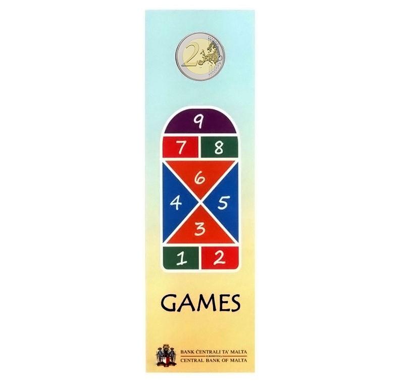(EUR13.ComBU&BE.2020.200.BU.COM2) 2 euro Malta 2020 BU - Games Back (zoom)