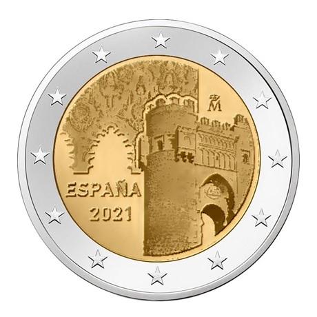 2 euro commémorative Espagne 2021 - Puerta del Sol de Tolède