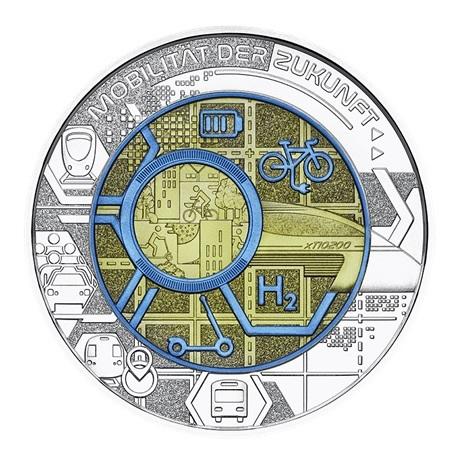(EUR01.ComBU&BE.2021.25141) 25 euro Autriche 2021 argent et niobium BU - Mobilité intelligente Revers