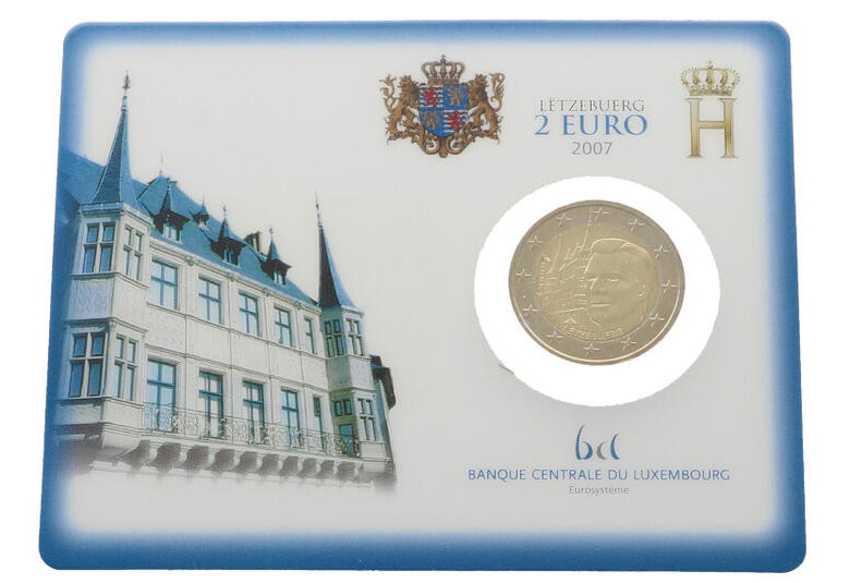 2 euro Luxembourg 2007 BU - Grand ducal Palace (zoom)