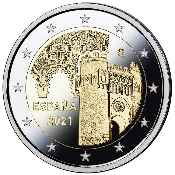 2 euro Spain 2021 Proof - Puerta del Sol, in Toledo Obverse (zoom)