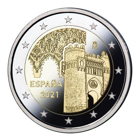 2 euro commémorative Espagne 2021 BE - Puerta del Sol de Tolède Avers