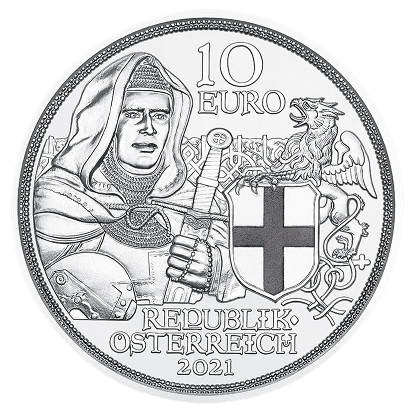 (EUR01.ComBU&BE.2021.25144) 10 euro Austria 2021 Proof silver - Brotherhood Obverse (zoom)