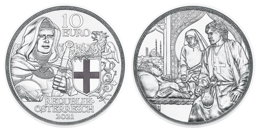 (EUR01.ComBU&BE.2021.25144) 10 euro Austria 2021 Proof silver - Brotherhood (zoom)