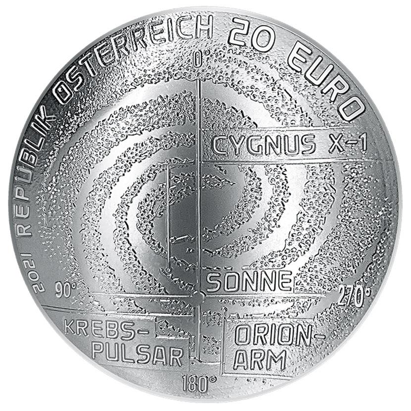 (EUR01.ComBU&BE.2021.25145) 20 € Austria 2021 Proof silver - Milky Way Obverse (zoom)