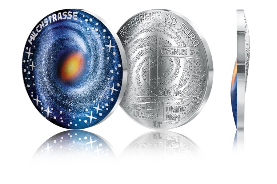 (EUR01.ComBU&BE.2021.25145) 20 euro Austria 2021 Proof Ag - Milky Way (zoom)