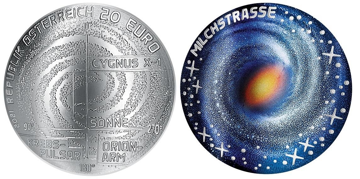 (EUR01.ComBU&BE.2021.25145) 20 euro Austria 2021 Proof silver - Milky Way (zoom)