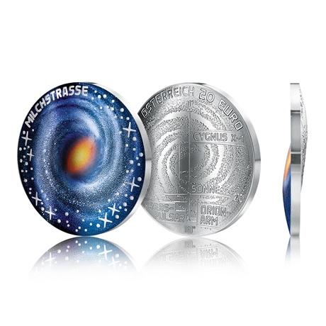 (EUR01.ComBU&BE.2021.25145) 20 euro Autriche 2021 Ag BE - Voie lactée