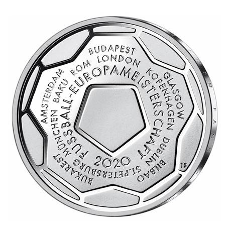 (EUR03.Proof.2020.910100sj) 20 euro Allemagne 2020 J argent BE - Championnat Europe football Revers