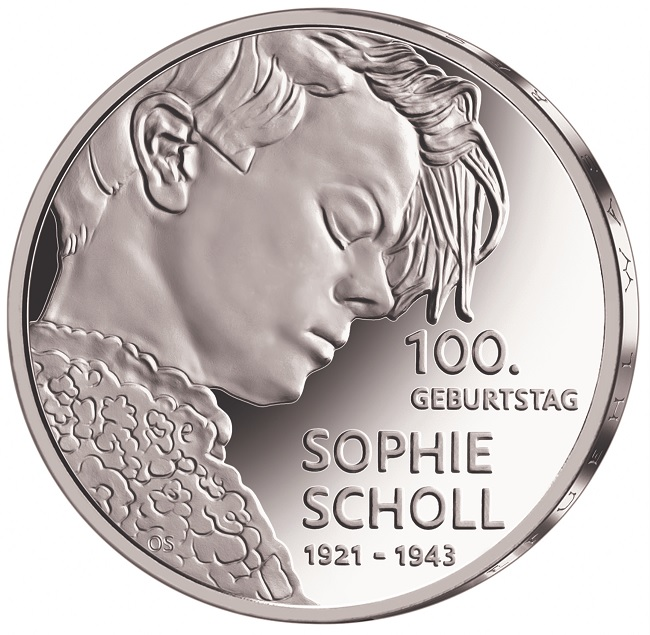 (EUR03.Proof.2021.910104sd) 20 euro Germany 2021 D Proof silver - Sophie Scholl Reverse (zoom)