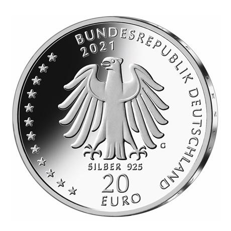 (EUR03.Proof.2021.910105sg) 20 euro Allemagne 2021 G argent BE - Sébastien Kneipp Avers