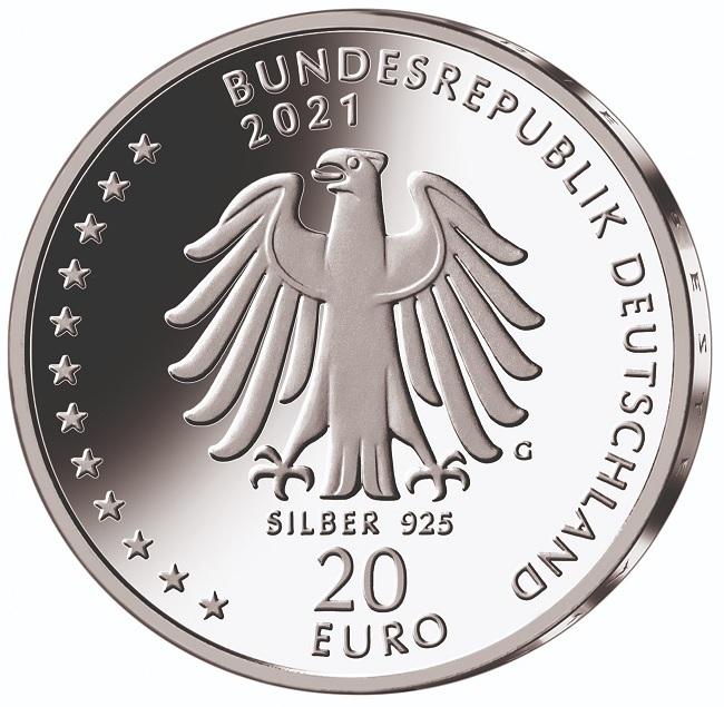 (EUR03.Proof.2021.910105sg) 20 euro Germany 2021 G Proof silver - Sebastian Kneipp Obverse (zoom)
