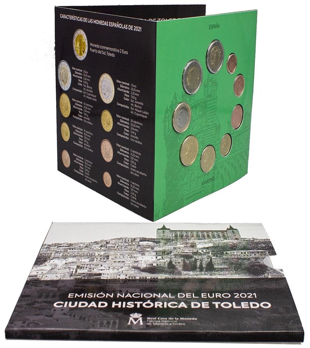 (EUR05.CofBU&FDC.2021.32107173) BU coin set Spain 2021 (open) (zoom)