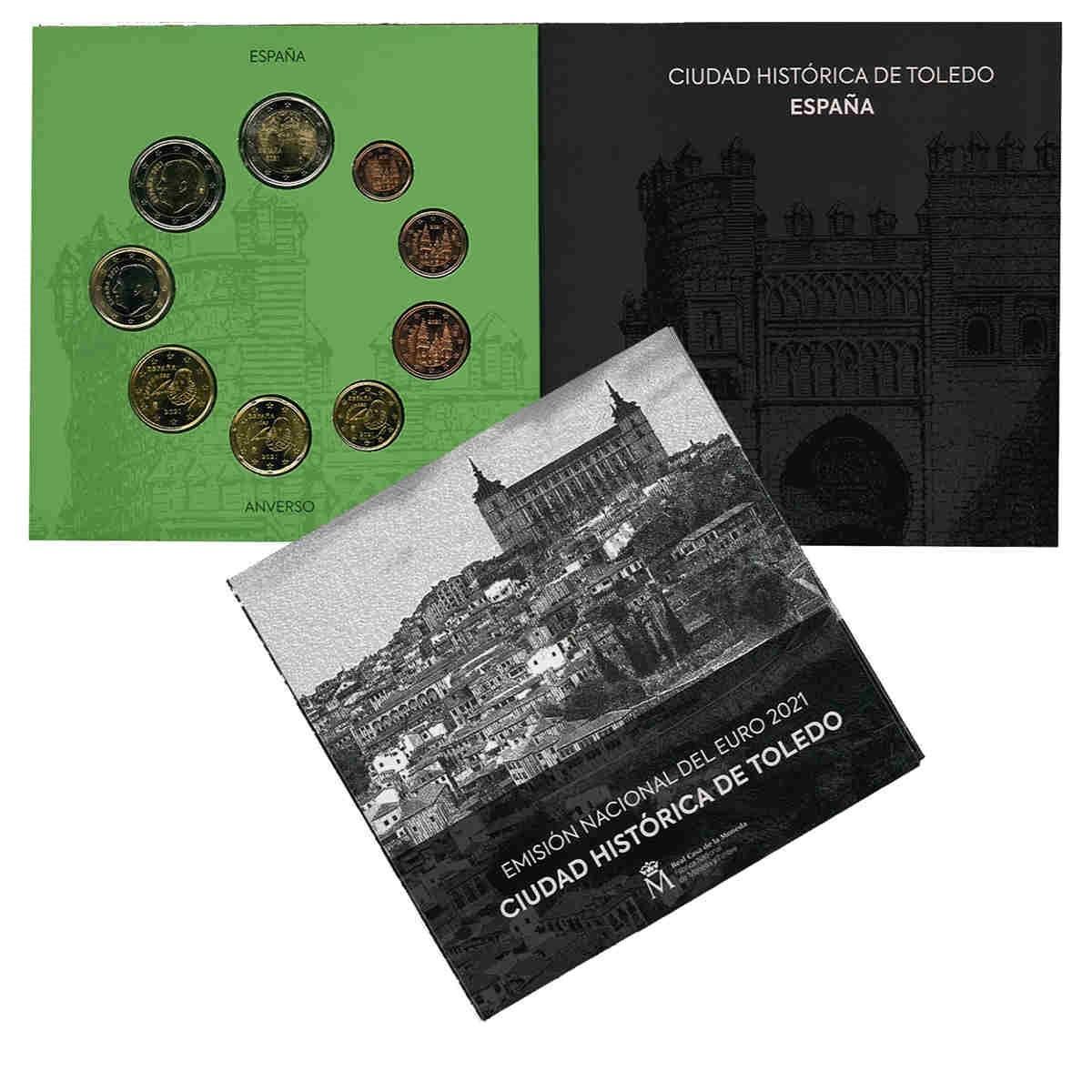 (EUR05.CofBU&FDC.2021.Cof-BU) BU coin set Spain 2021 (zoom)