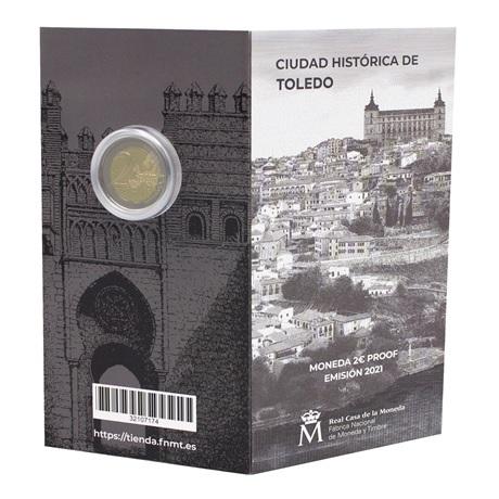 (EUR05.ComBU&BE.2021.32107174) 2 euro Espagne 2021 BE - Puerta del Sol de Tolède (extérieur)