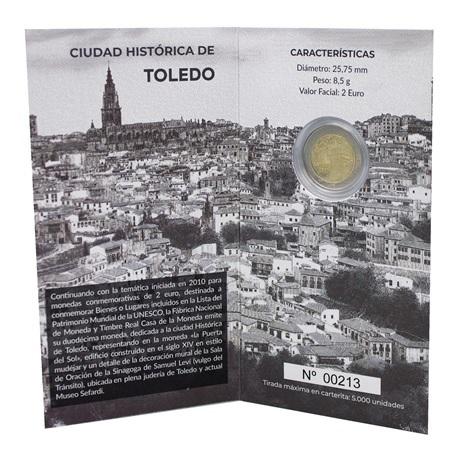 (EUR05.ComBU&BE.2021.32107174) 2 euro Espagne 2021 BE - Puerta del Sol de Tolède (intérieur)