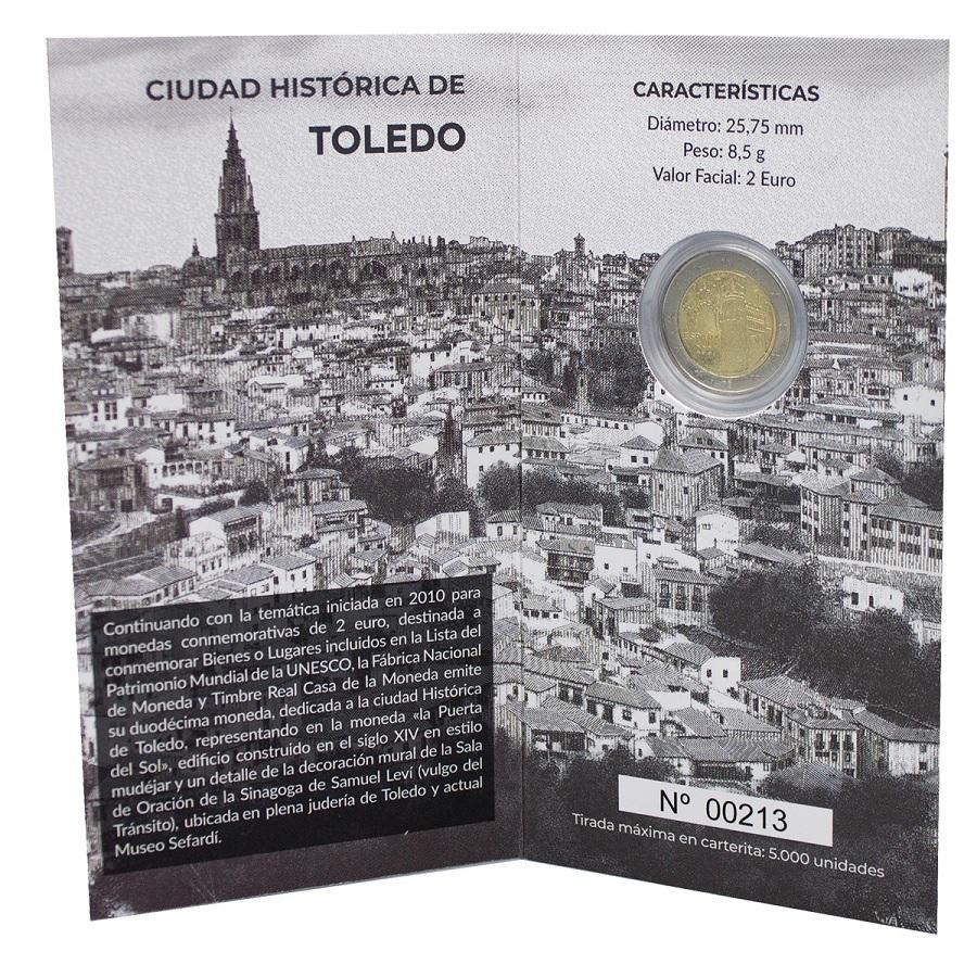 (EUR05.ComBU&BE.2021.32107174) 2 euro Spain 2021 Proof - Puerta del Sol, in Toledo (inside) (zoom)