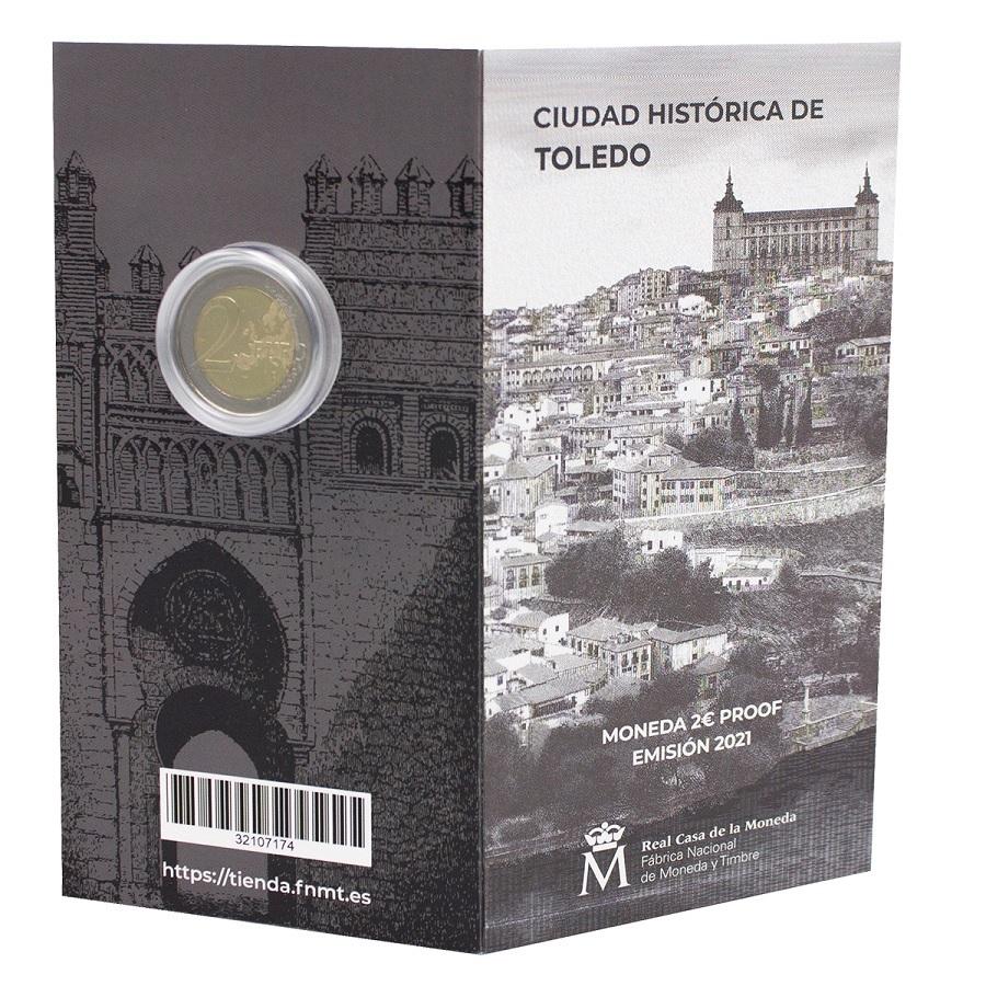 (EUR05.ComBU&BE.2021.32107174) 2 euro Spain 2021 Proof - Puerta del Sol, in Toledo (outside) (zoom)