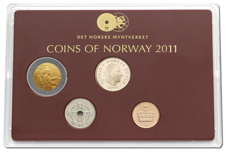 (W0161.CofBU.2011.1) BU coin set Norway 2011 (zoom)