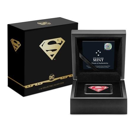 (W160.2.D.2021.30-01067) 2 Dollars Niue 2021 1 oz Ag BE - Logo de Superman (boîte et écrin)