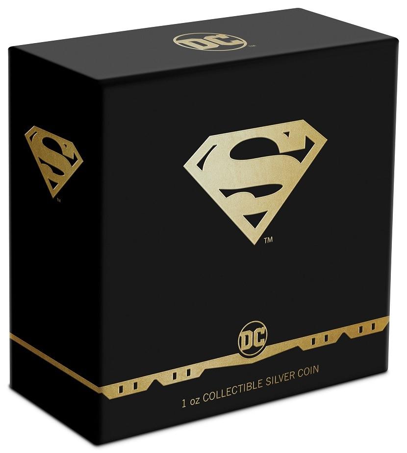(W160.2.D.2021.30-01067) 2 Dollars Niue 2021 1 oz Proof Ag - Superman Shield (box) (zoom)