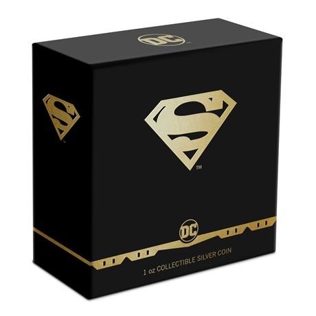 (W160.2.D.2021.30-01067) 2 Dollars Niue 2021 1 oz argent BE - Logo de Superman (boîte)