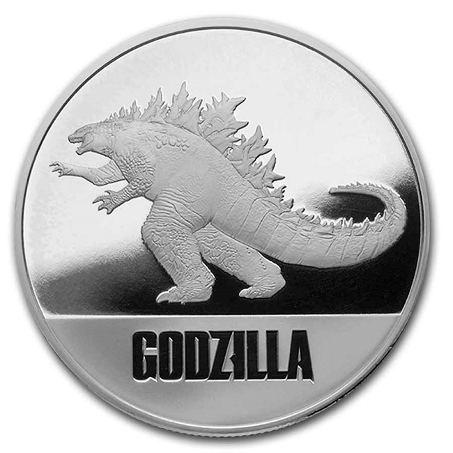 (W160.200.2021.1.oz.Ag.6) 2 Dollars Niue 2021 1 oz Proof silver - Godzilla Reverse (zoom)
