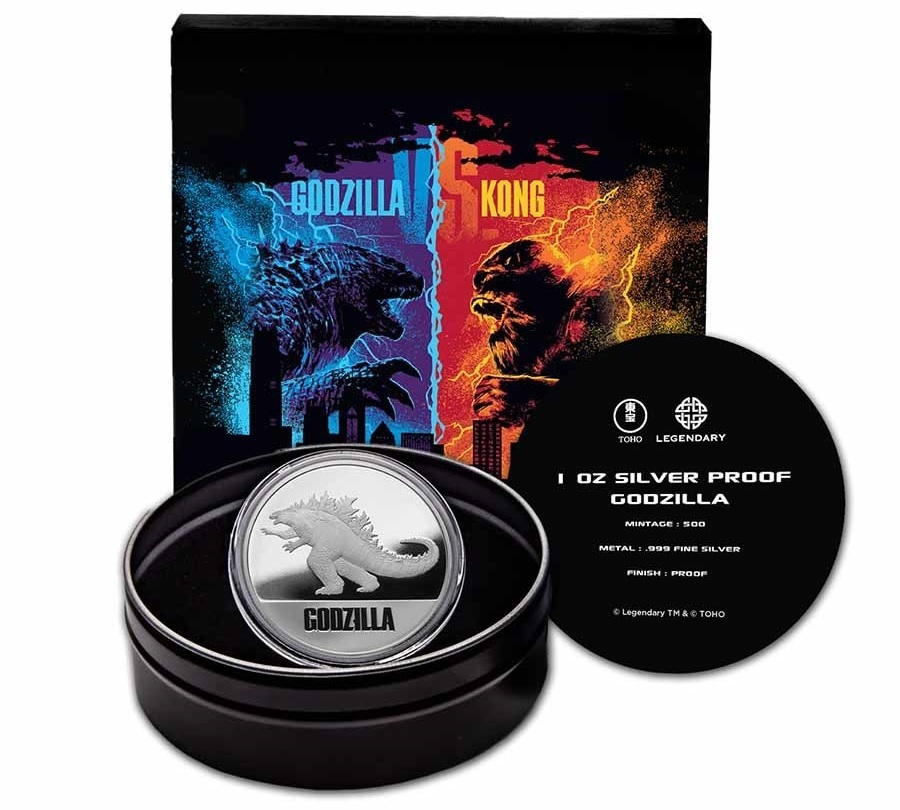 (W160.200.2021.1.oz.Ag.6) 2 Dollars Niue 2021 1 oz Proof silver - Godzilla (full packaging) (zoom)