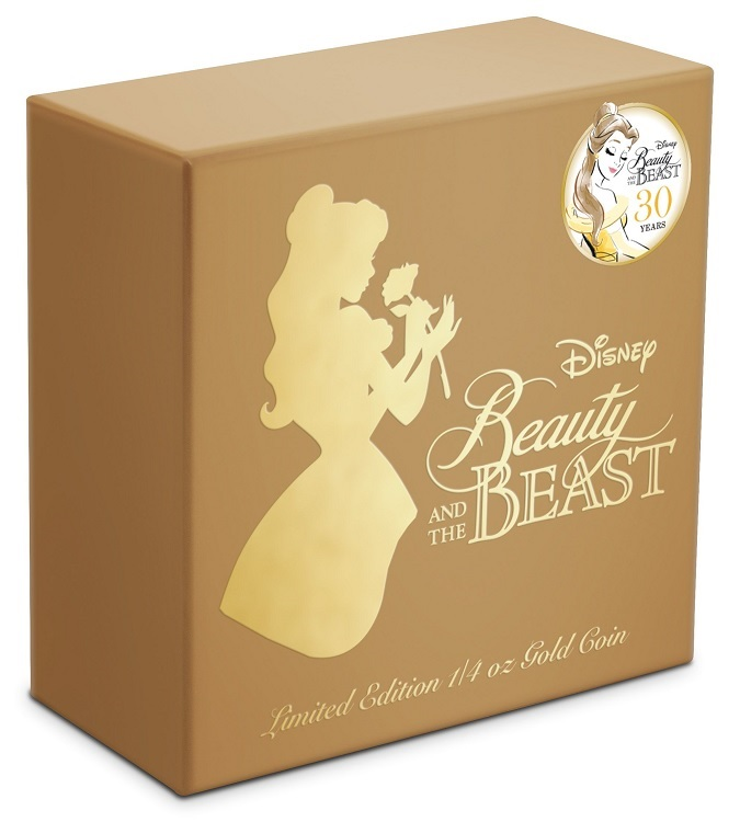 (W160.25.D.2021.30-01030) 25 Dollars Niue 2021 0.25 ounce Proof gold - Beauty and the Beast (box) (zoom)