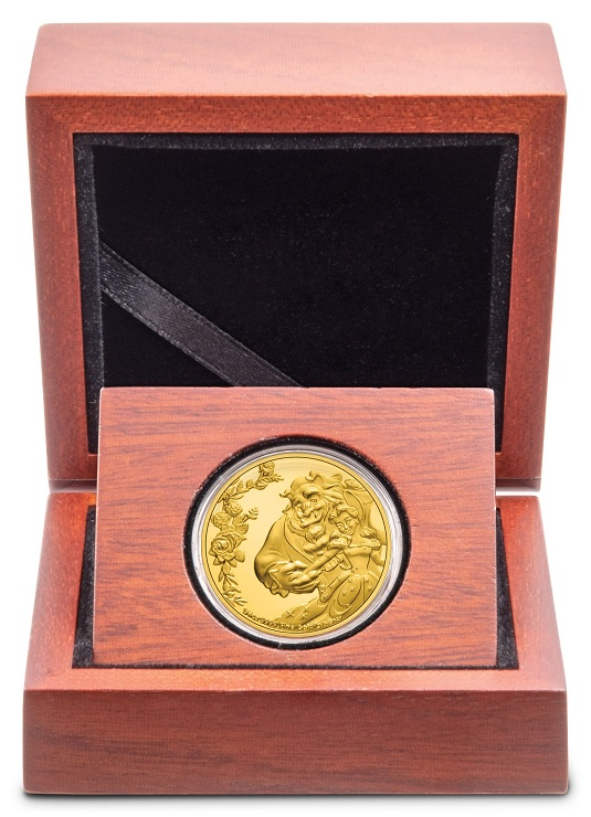 (W160.25.D.2021.30-01030) 25 Dollars Niue 2021 0.25 ounce Proof gold - Beauty and the Beast (case) (zoom)