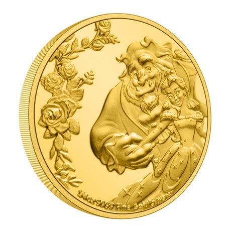 (W160.25.D.2021.30-01030) 25 Dollars Niue 2021 0,25 once Au BE - La Belle et la Bête (tranche)