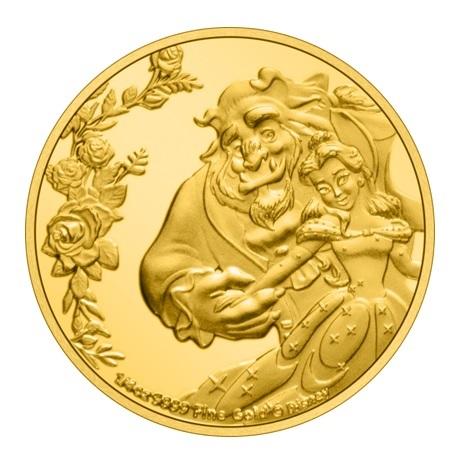 (W160.25.D.2021.30-01030) 25 Dollars Niue 2021 0,25 once or BE - La Belle et la Bête Revers