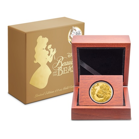 (W160.25.D.2021.30-01030) 25 Dollars Niue 2021 0,25 once or BE - La Belle et la Bête (boîte et écrin)