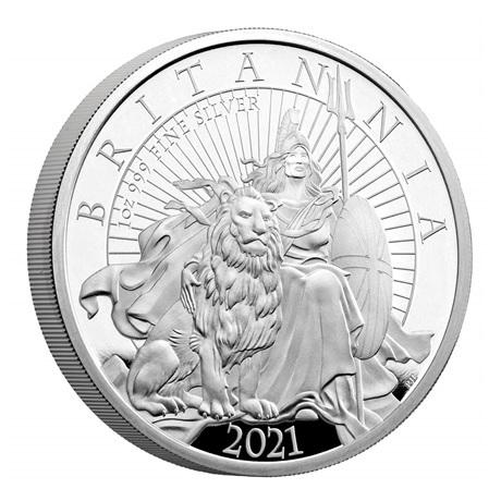 (W185.2.P.2021.BR21SO) 2 Pounds Royaume-Uni 2021 1 once argent BE - Britannia Revers