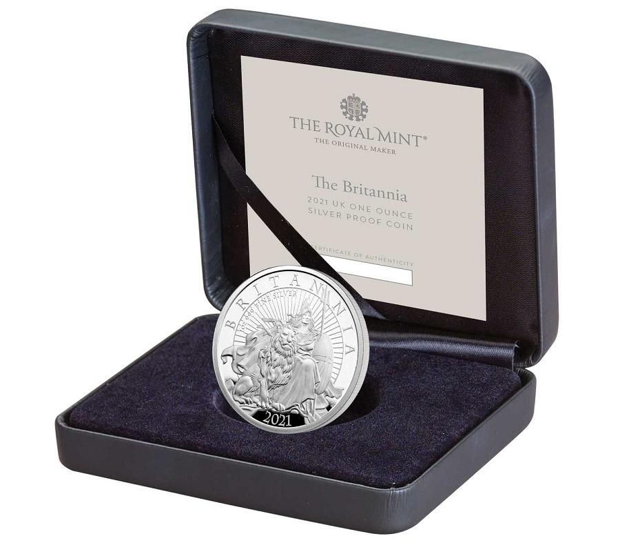 (W185.2.P.2021.BR21SO) 2 Pounds United Kingdom 2021 1 oz Proof Ag - The Britannia (case) (zoom)