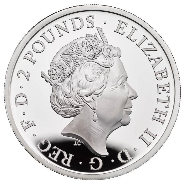 (W185.2.P.2021.BR21SO) 2 Pounds United Kingdom 2021 1 oz Proof silver - The Britannia Obverse (zoom)