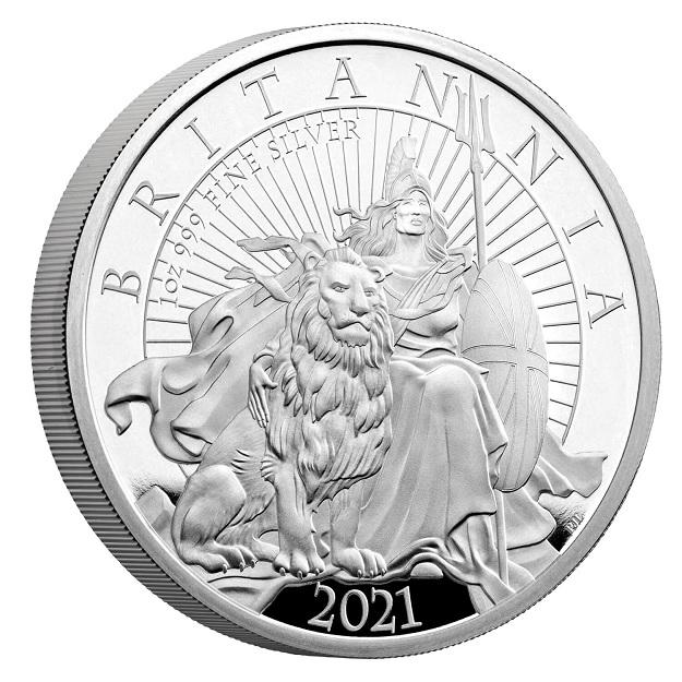 (W185.2.P.2021.BR21SO) 2 Pounds United Kingdom 2021 1 oz Proof silver - The Britannia Reverse (zoom)