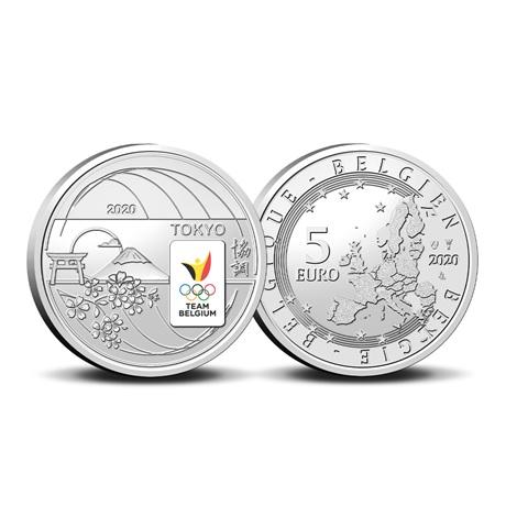 (EUR02.ComBU&BE.2020.500.BU.COM2.1) 5 euro Belgique 2020 BU - Equipe de Belgique