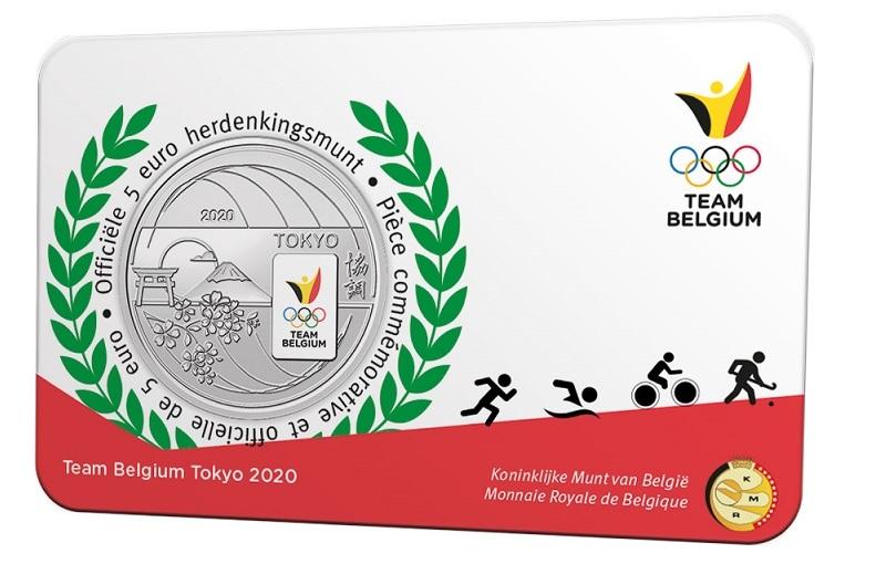 (EUR02.ComBU&BE.2020.500.BU.COM2.1) 5 euro Belgium 2020 BU - Team Belgium Front (zoom)