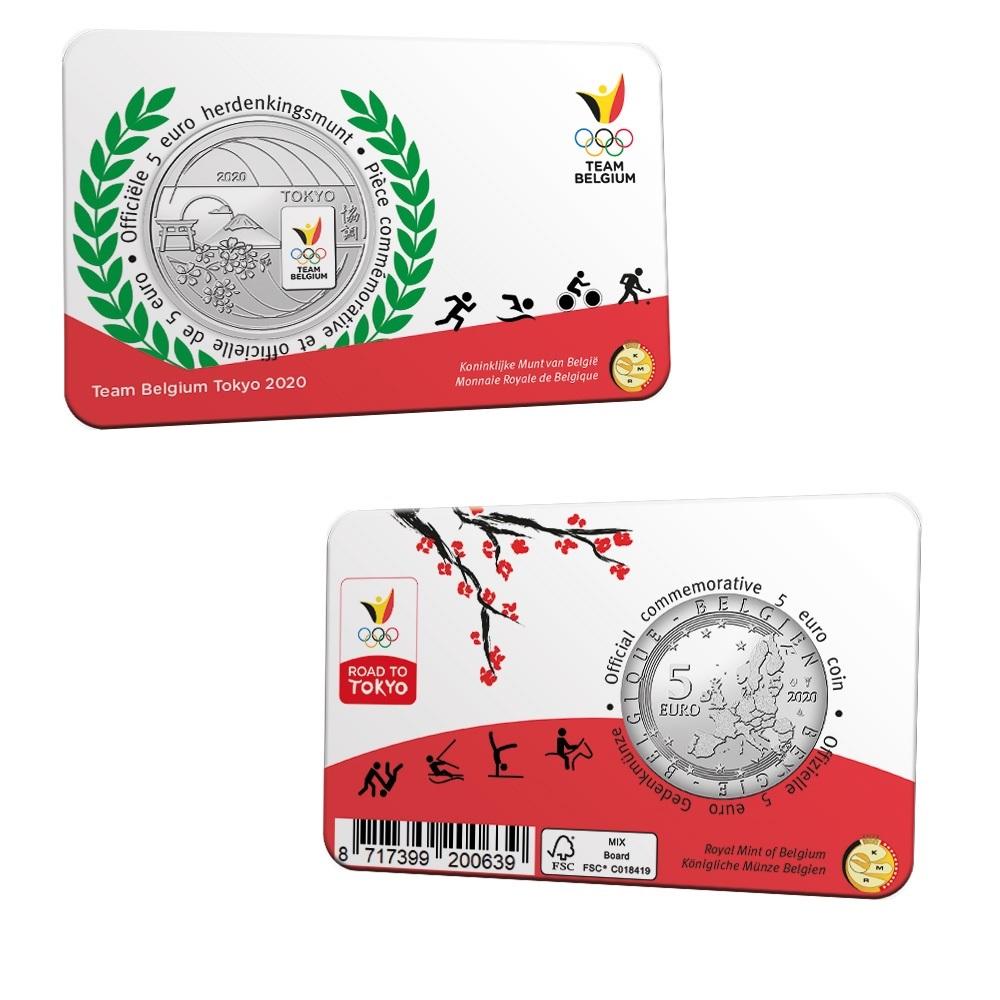 (EUR02.ComBU&BE.2020.500.BU.COM2.1) 5 euro Belgium 2020 BU - Team Belgium (coincard) (zoom)