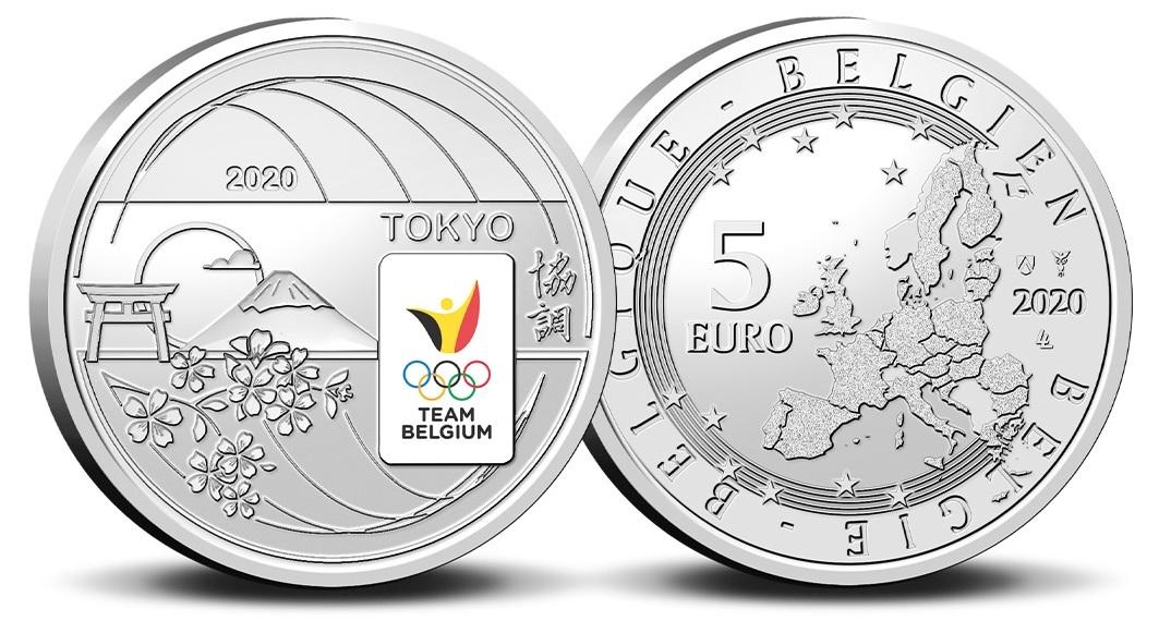 (EUR02.ComBU&BE.2020.500.BU.COM2.1) 5 euro Belgium 2020 BU - Team Belgium (zoom)